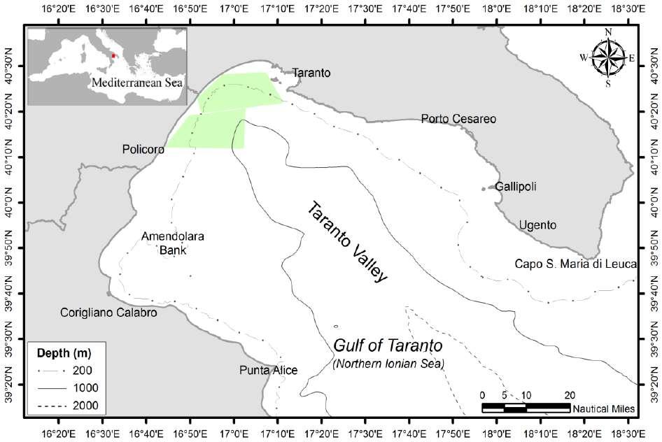 Golfo di Taranto & area di ricerca - Gulf of Taranto & research area